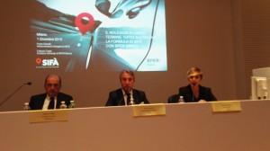 Un momento della conferenza stampa di Sifa'
