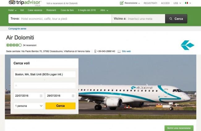 TripAdvisor introduce le pagelle nei voli aerei