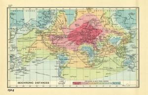 Mappa isocrona del 1914