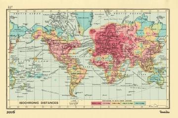 La mappa isocrona realizzata dal motore di ricerca Rome2io