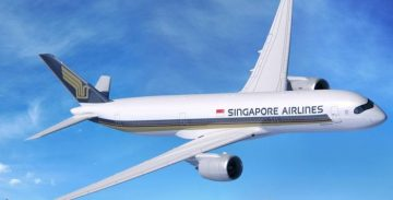 A350 di Singapore Airlines