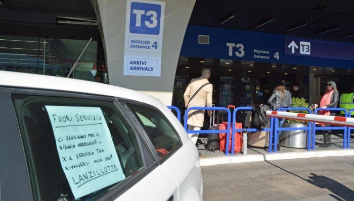Sciopero dei taxi
