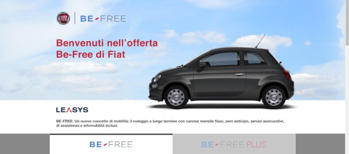 la fiat 500 con formula be free di leasys va su amazon missionline. Black Bedroom Furniture Sets. Home Design Ideas