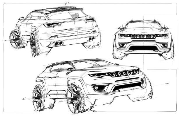 Disegni della nuova Jeep Compass