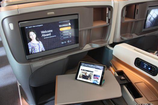 La Business dell'A350 di Singapore Airlines
