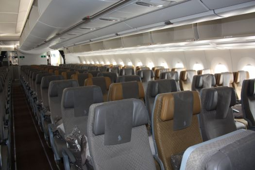 L'Economy dell'A350 di Singapore Airlines