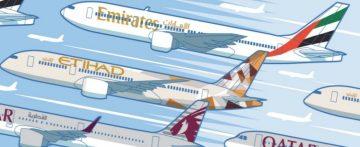 Emirates, Etihad e Qatar Airways