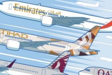 Emirates, Etihad e Qatar Airways