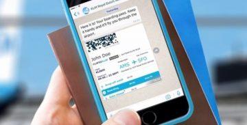 KLM gestisce i passeggeri con WhatsApp