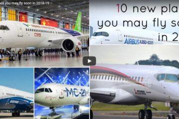 I dieci aerei nuovi nei cieli
