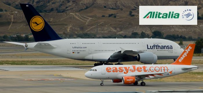 Alitalia tra Lufthansa ed easyjet