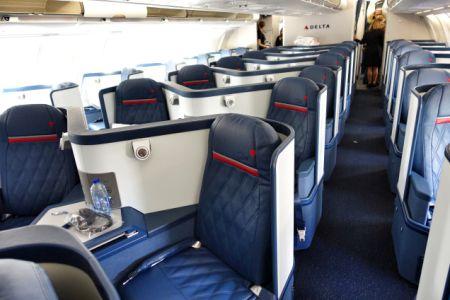 La cabina della della Delta One® dell'A330-300