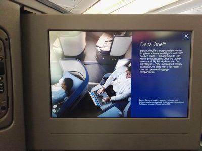 La Delta One® sullo schermo dell'A330-300