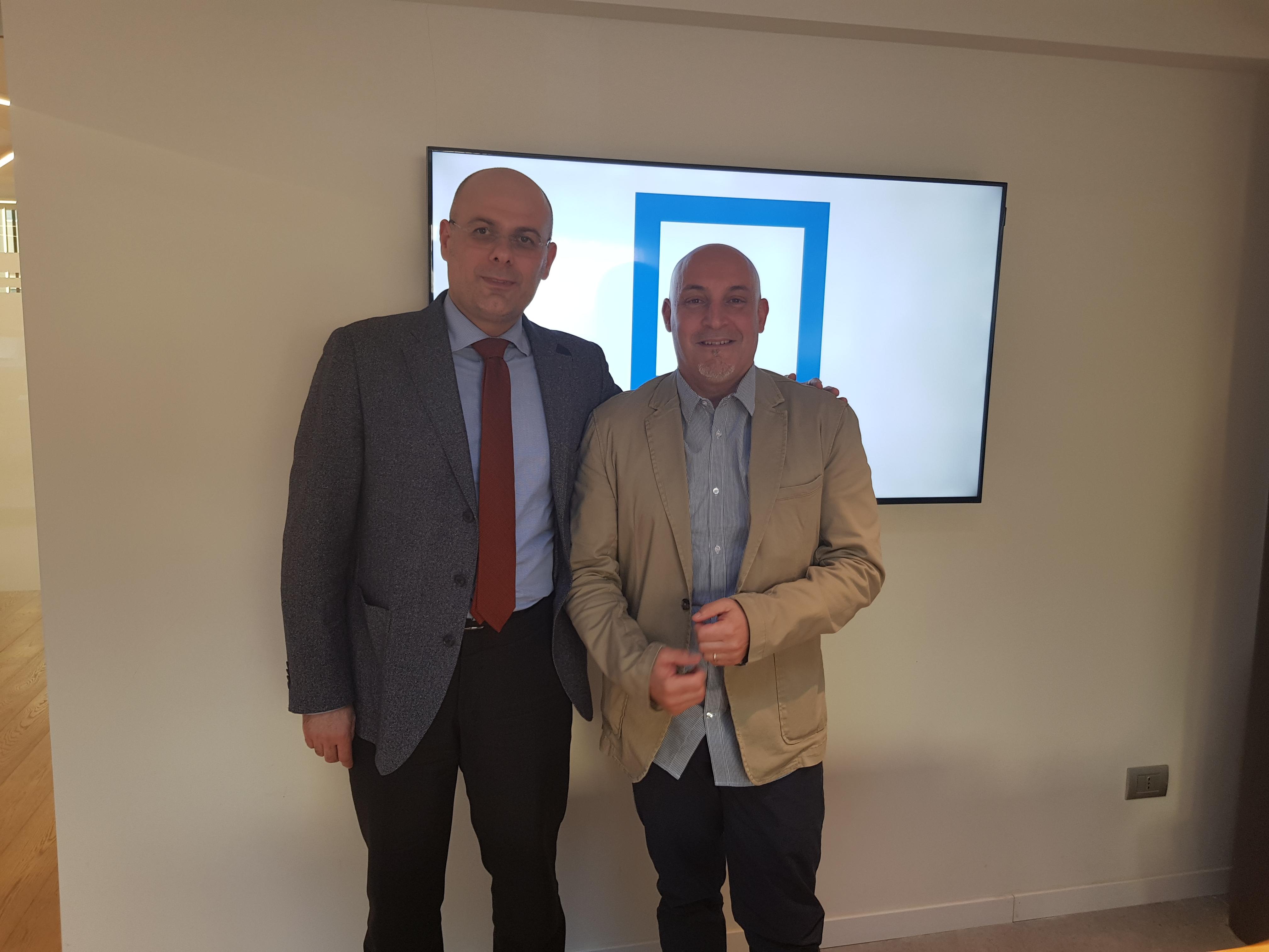 Alessandro Cavazza - Gattinoni , Stefano Severi - Travel Manager TEDDY