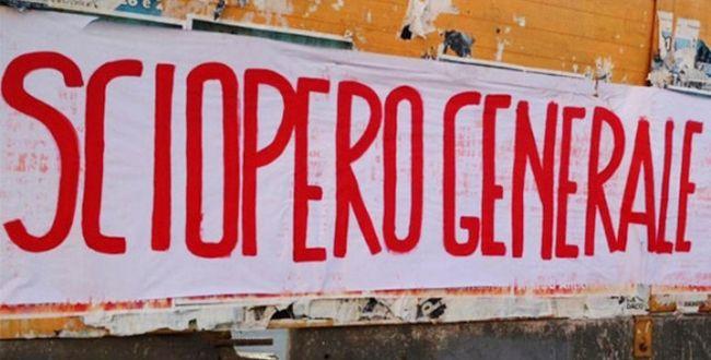 sciopero generale anche in Italia