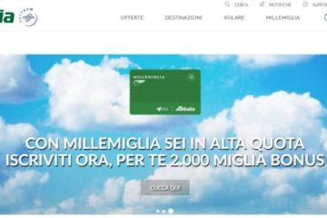 Alitalia si riprende Millemiglia