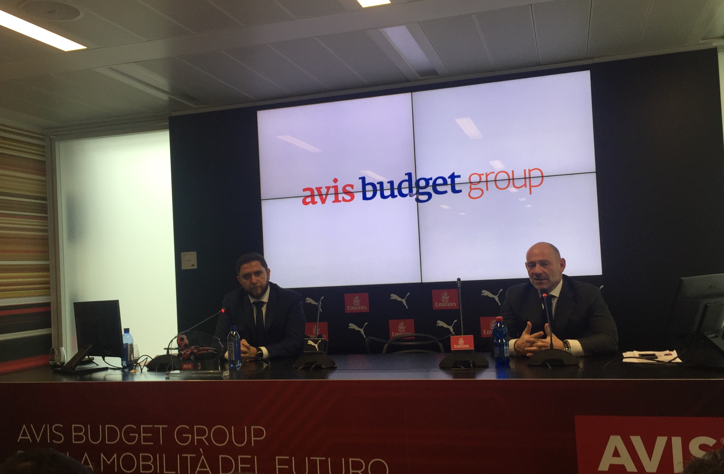 Avis Budget Group press conference Milan