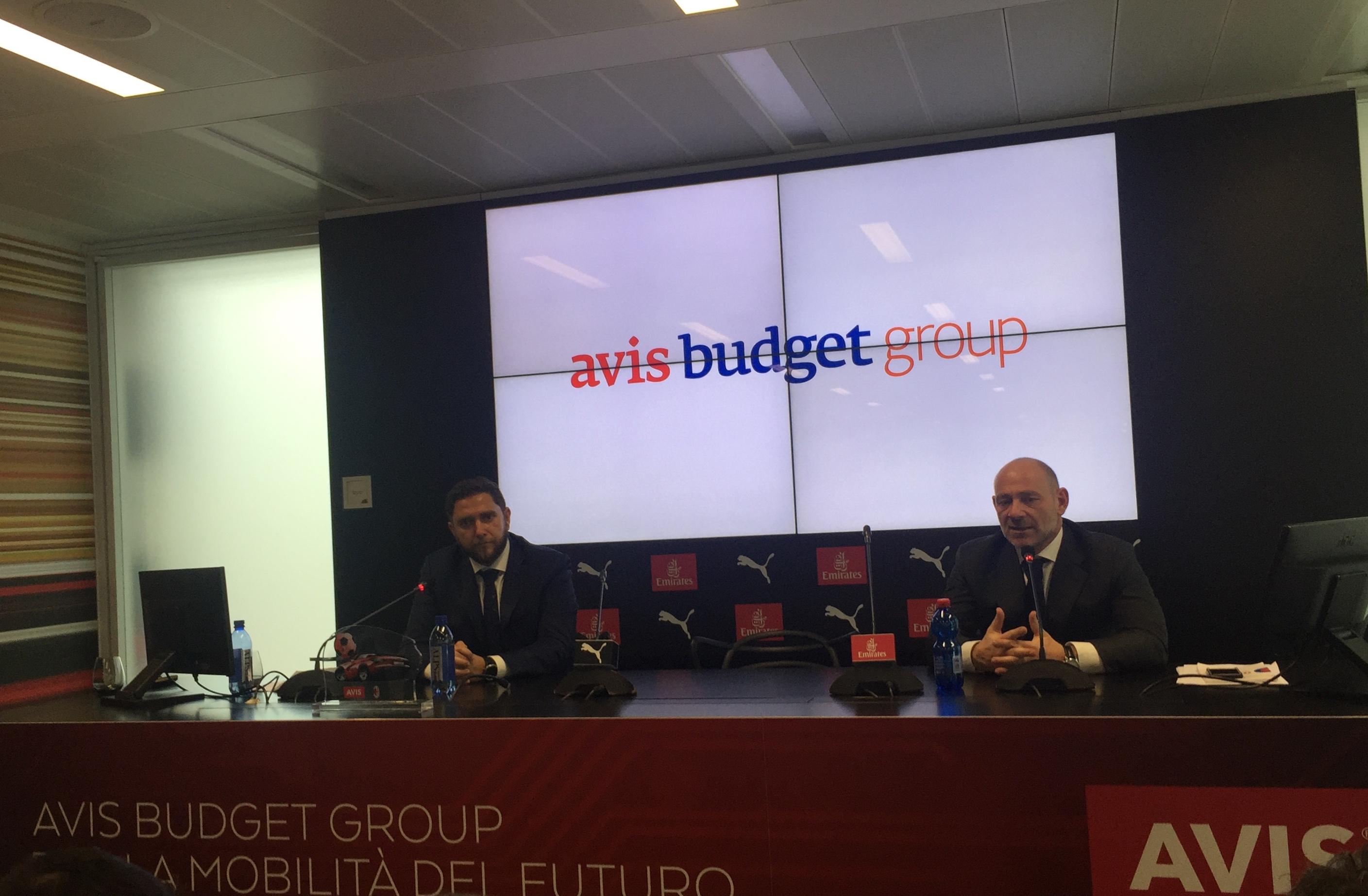 Avis Budget Group press conference Milan
