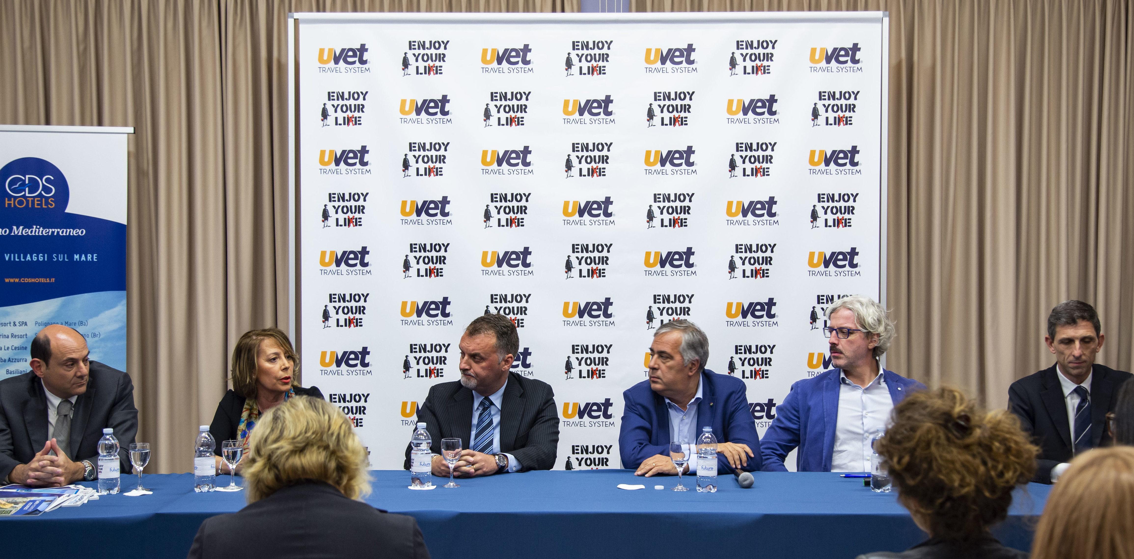 La conferenza stampa a margine della convention Uvet Travel System