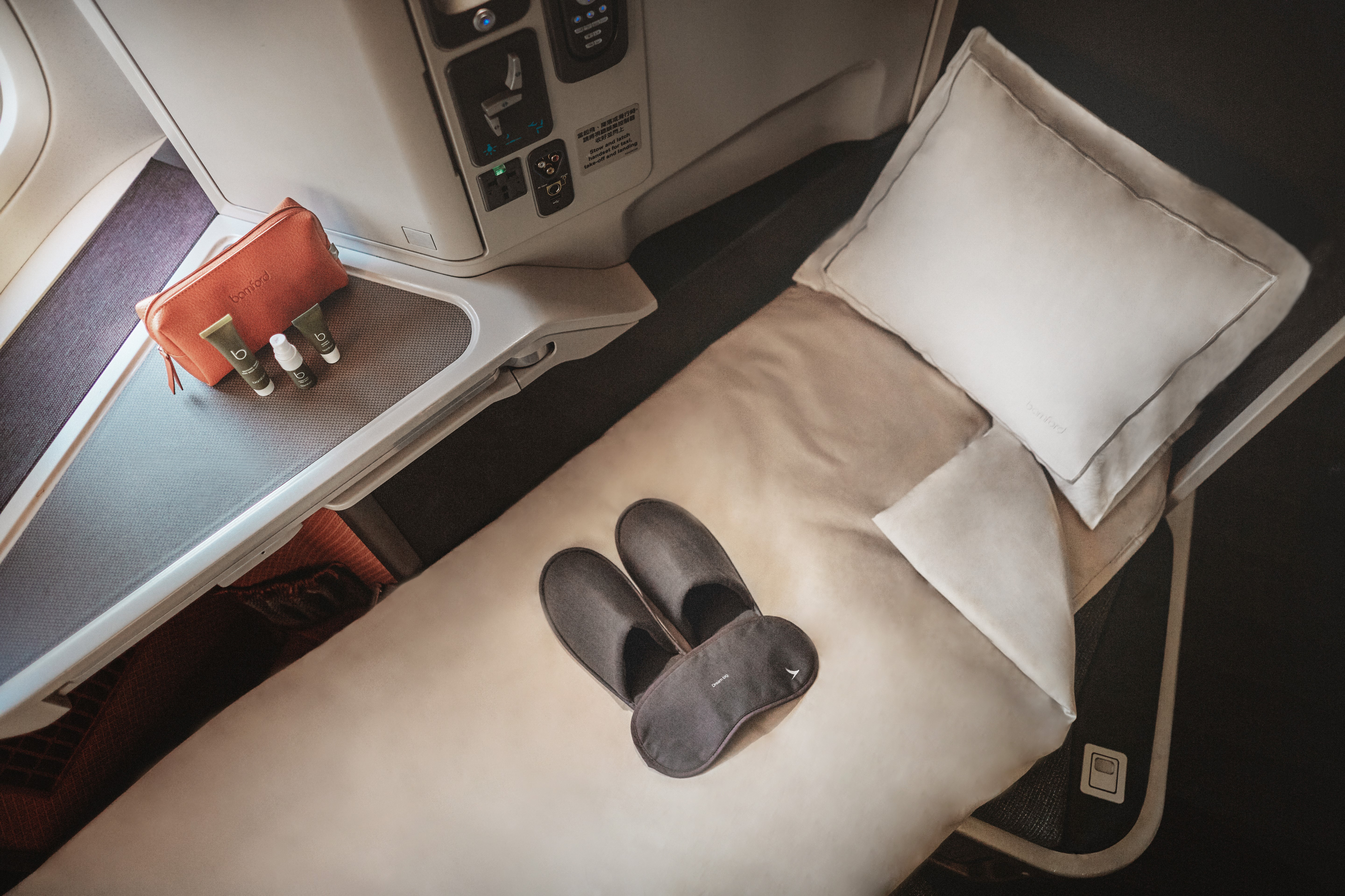 First e business class Cathay Pacific