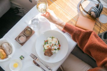 First e business class di Cathay Pacific