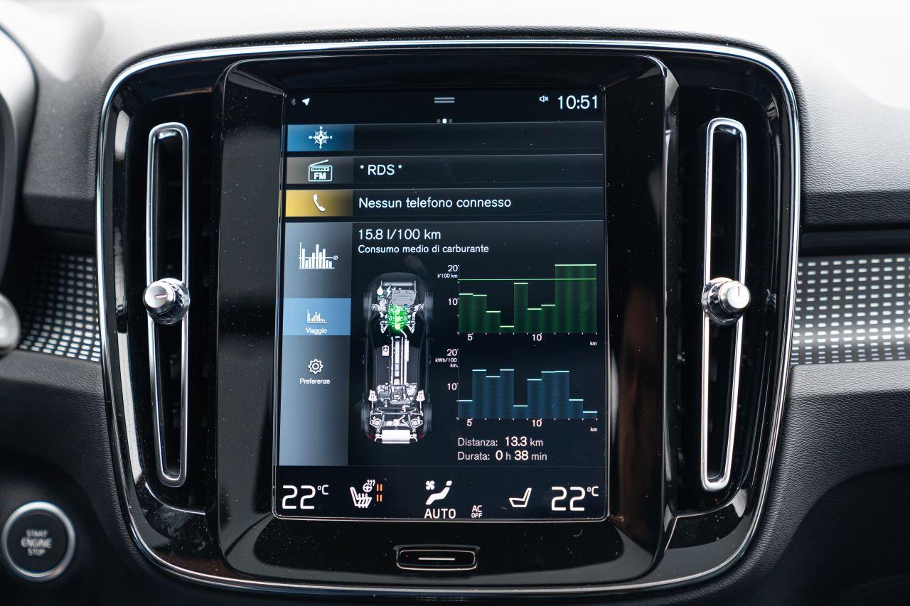 Il sistema d'infotainment è basato su Android