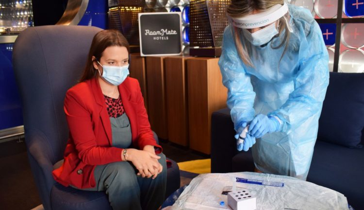 Test rapido antigenico Covid19 in hotel