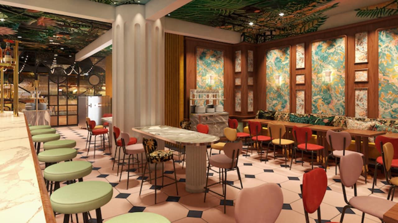 La sala ristorante del Mama Roma