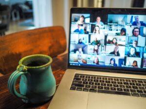 Le conference call su Zoom: una schermata di video call