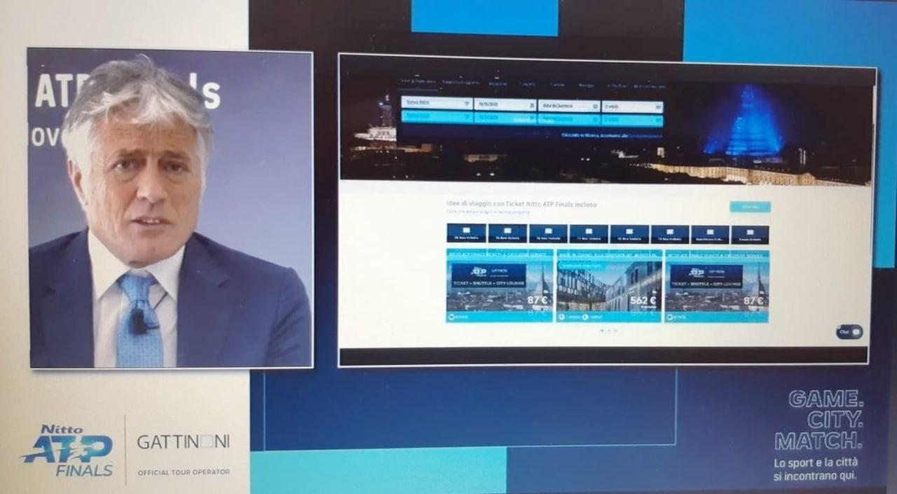 Franco Gattinoni presenta la piattaforma per le Nitto Atp Finals