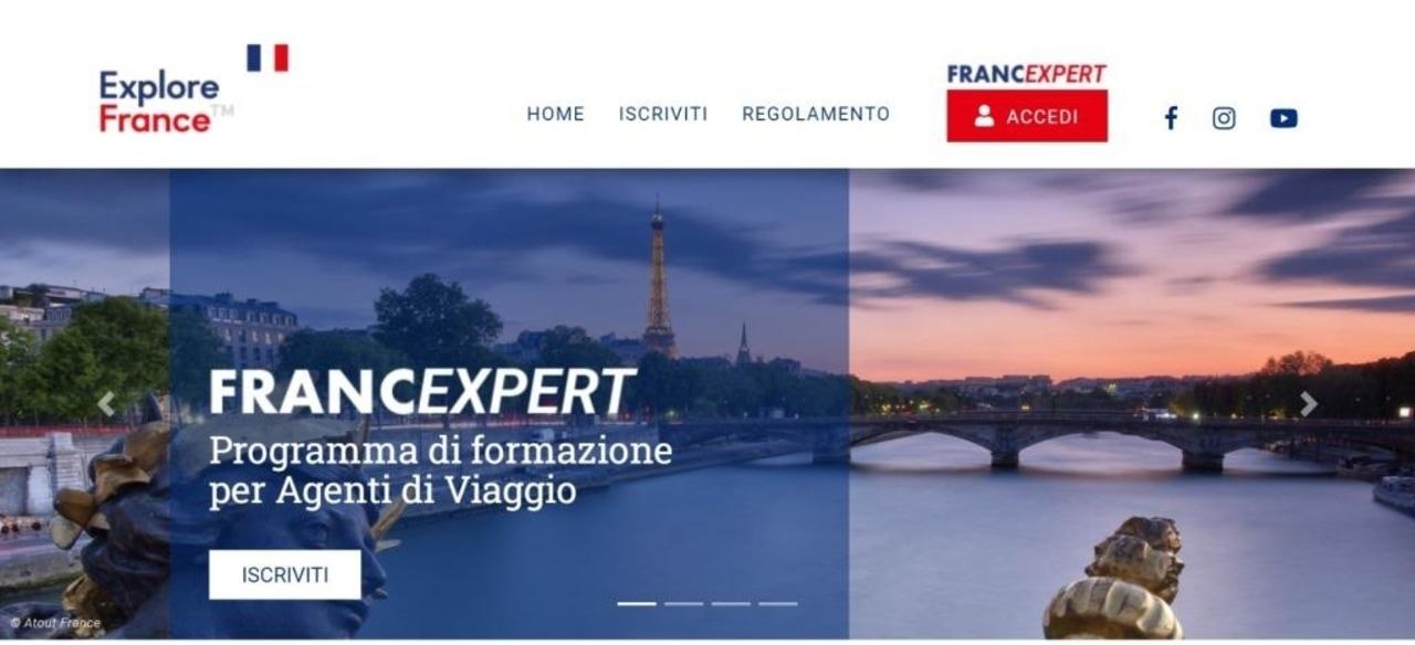 La home page del corso di formazione FrancExpert