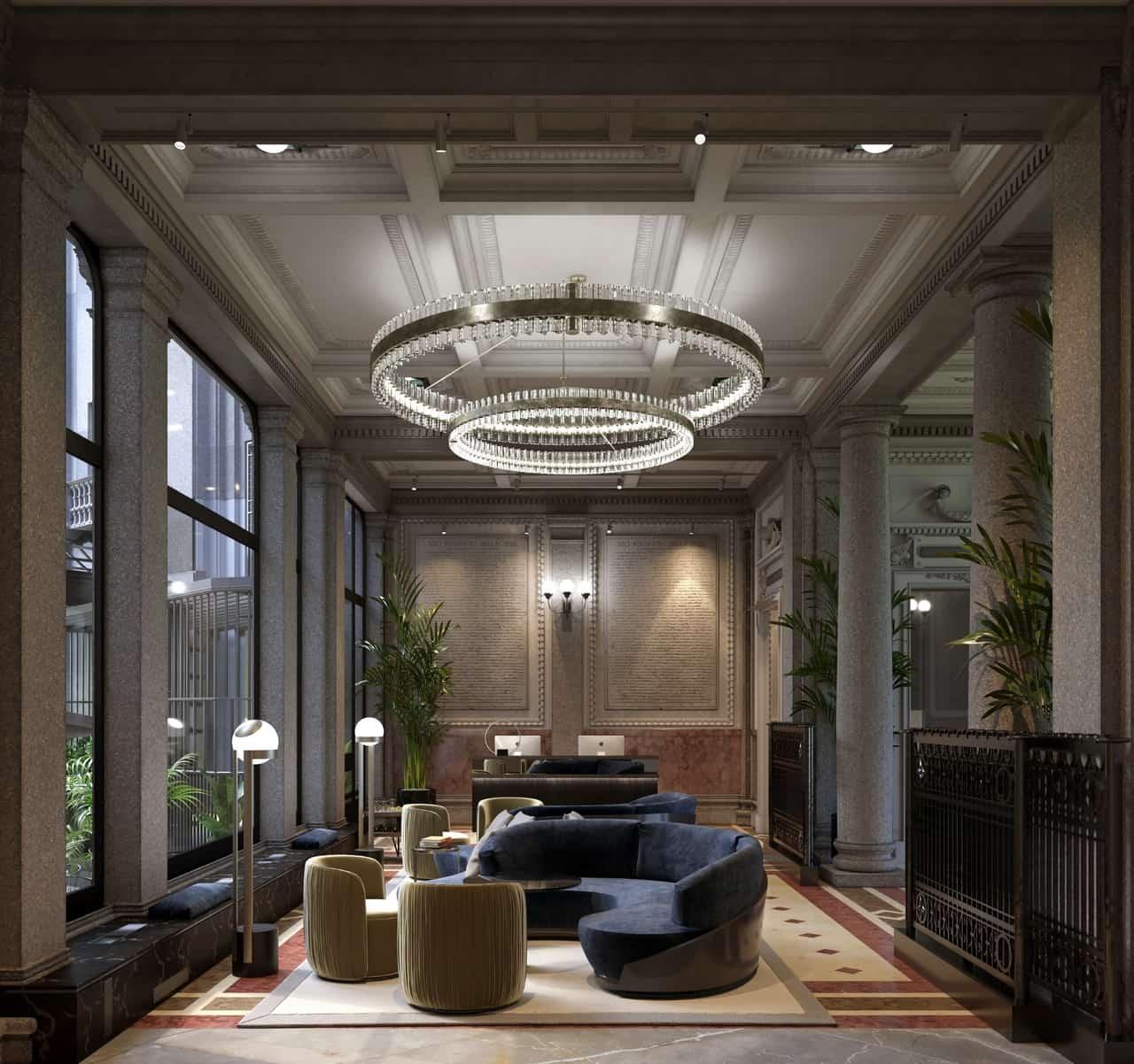 Interni di Radisson Collection Hotel Palazzo Touring Club Milan.